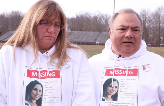 """The Parze family holds a rally at Freehold Township High School to keep the """"Bring Steph Home"""" effort going. Stephanie Parze was last seen in late October, the family and many volunteers continue to search for her. They hold hope that she will one day be found. Sharlene and Ed Parze ask for help to solve the whereabouts of their daughter.   Freehold, NJSaturday, December 21, 2019"""