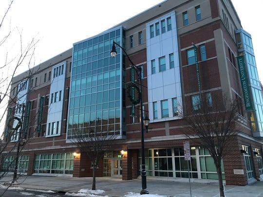 The Binghamton University Downtown Center, pictured Dec. 21, 2019, is at 67 Washington St. in Binghamton.