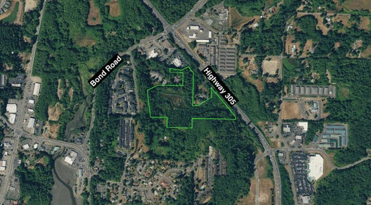A view of the nearly 14-acre property that will soon be transferred to the city of Poulsbo.