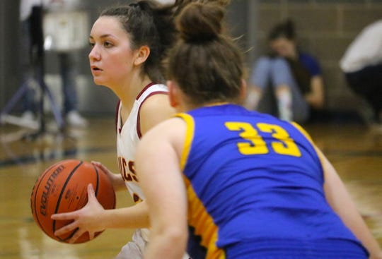 Kingston's Kylee Walker scored 15 points in the team's victory over Bremerton on Dec. 20, 2019. It was the first Olympic League 2A victory for the Buccaneers, who'll play in the Surf 'N Slam tournament in San Diego on Dec. 27-30.