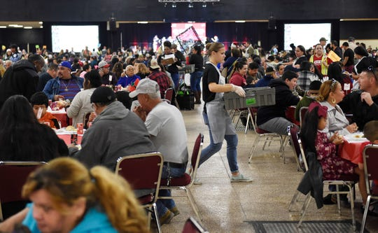 HEB hosts its 31st annual Feast of Sharing, Saturday, Dec. 21, 2019, at the American Bank Center. Thousands of South Texas families came to share a holiday meal.