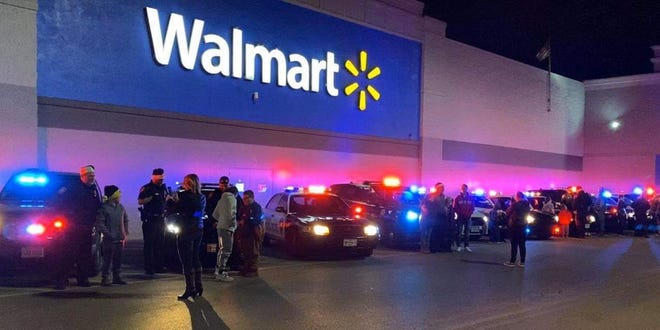 A 35-year-old woman chose a hilariously bad moment to shoplift from a Walmart in Oxford, Ohio.