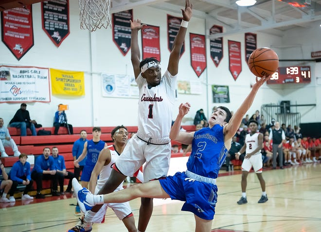 Middlesex at Bound Brook boys basketball on Friday, Dec. 20, 2019.