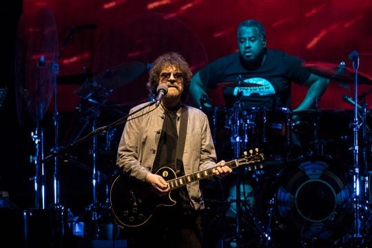 Jeff Lynne played Little Caesar's Arena with his band on July 20.