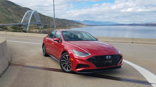 New chassis. The 2020 Hyundai Sonata is tighter, lower and swifter than the previous generation.