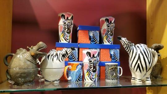 More cute mugs and teapots  at Beans and Baristas.