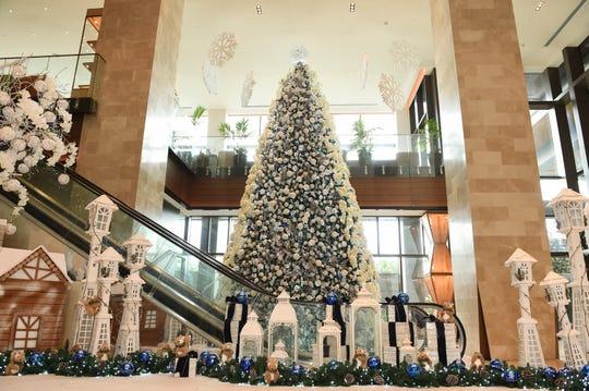 "The ""White Christmas"" display at Dusit Thani Guam Resort in Tumon, Dec. 21, 2019."