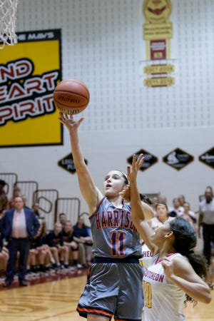 Lexi Fraley scored nine points in Harrison's win over Benton Central.