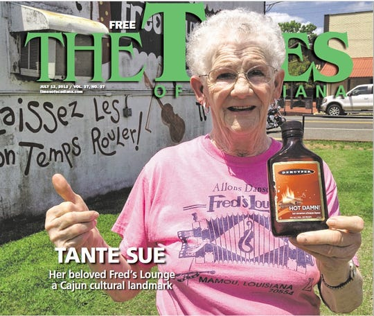 July 2012: Matt Sigur talked to Tante Sue at Fred's Lounge in Mamou.