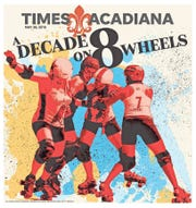May 2019: A vivid celebration of Acadiana Roller Derby's 10th season.