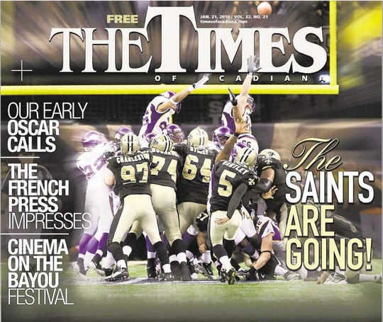 January 2010: The Saints' NFC Championship took the cover spot.