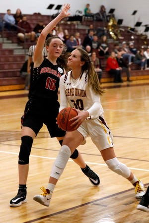 Berne Union junior Bella Kline was named Central District Division IV Girls Player of the Year.