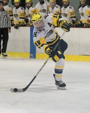 Hartland's Adam Pietila had two goals and one assist in a 3-3 tie with Trenton on Friday, Dec. 20, 2019.