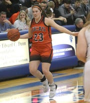 Lucas' Paige Arnold has been consistent all season for the Lady Cubs.