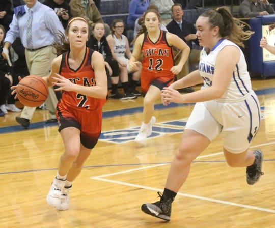 Lucas' Kayla Hignite turned up the defensive pressure on Friday night as the Lady Cubs held their opponent under 20 points for the second consecutive game.