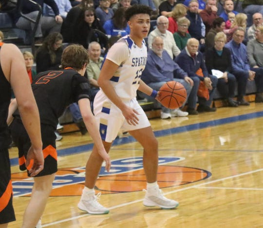 St. Peter's Shawn Perkins-Harris has the Spartans at No. 9 in the Richland County Boys Basketball Power Poll.