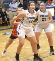 St. Peter's Sydney Cavanaugh leads the Lady Spartans into battle against Ontario at the Wayne Roller Holiday Showcase.