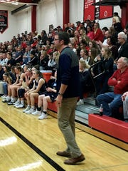 River Valley girls basketball coach Tim Chiles watches as his team plays at Pleasant this season.