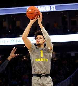 Marquette's Brendan Bailey averaged 7.1 and 5.2 rebounds in 25.4 minutes per game with the Golden Eagles as a sophomore this season.