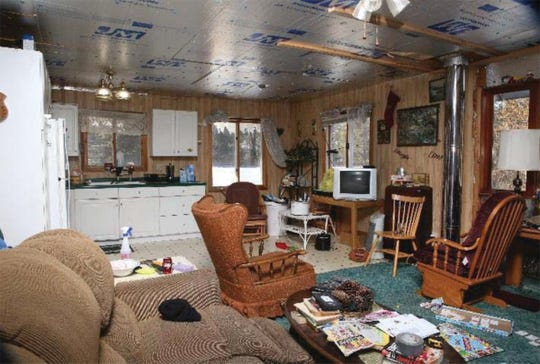 The interior of the home in the Douglas County Town of Gordon where Jayme Closs was held captive for 88 days. The picture was included in documents released Friday by the state Department of Justice.