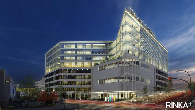 Assurant Health's former downtown headquarters could have floors added to its top as part of a redevelopment plan.