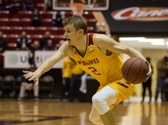 ULM guard Michael Ertel knocked down six free throws in the final minute of an 83-77 win over Louisiana-Lafayette on Saturday at Fant-Ewing Coliseum.