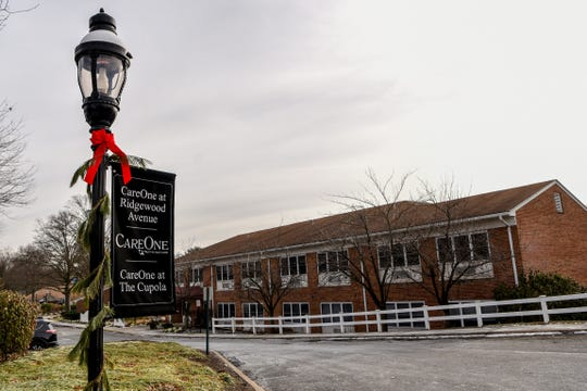 Care One at Ridgewood Avenue, a Paramus nursing home, reports an outbreak of gastrointestinal illness. The exterior of Care One in Paramus is shown on Saturday December 21, 2019.