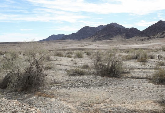 Developers are looking to build a large solar installation near Mule Mountain just outside of Blythe, Calif., December 12, 2019.