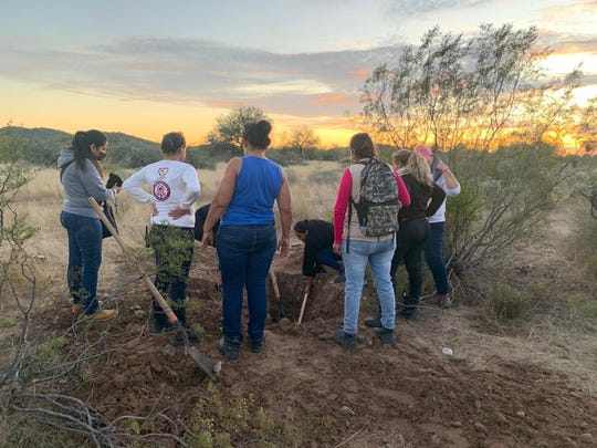 The area where a volunteer group of mothers dug up a buried body on Dec. 3, 2019 is about an hour west of Hermosillo, Mexico, in remote ranch land.