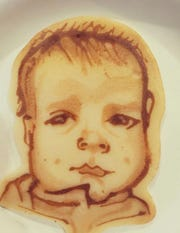 Pancake artist Lee Goldberg is the dad of 4 1/2-month-old Miles. Here he is in pancake form.