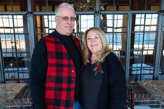 Norb Klatt and June Kirby-Klatt were the first guests to check in to the St. Clair Inn Saturday, Dec. 21, 2019.