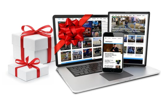 Democrat and Chronicle holiday gift subscriptions may be given to friends and loved ones.