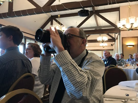 Record Searchlight veteran journalist Mike Chapman takes photographs at the 37th annual Scholar-Athlete of the Year awards on May 23, 2019 at Riverview Country Club in Redding.