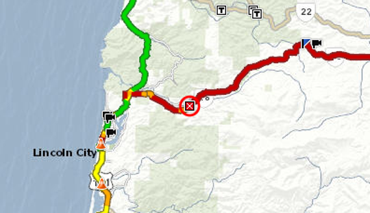 A crash has closed Highway 18 at milepost 5 four miles east of Otis.