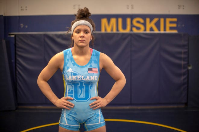 Lakeland University athletes like wrestler Jayden Laurent won't compete in conference competition in 2020.
