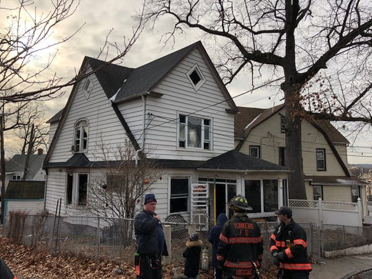 A house on Prospect Drive in Yonkers after a fire on December 21, 2019.