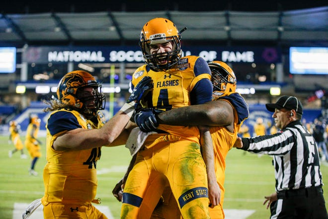 Senior quarterback Dustin Crum will lead the Kent State football team into the 2021 season, which opens on Sept. 4 at Texas A&M.