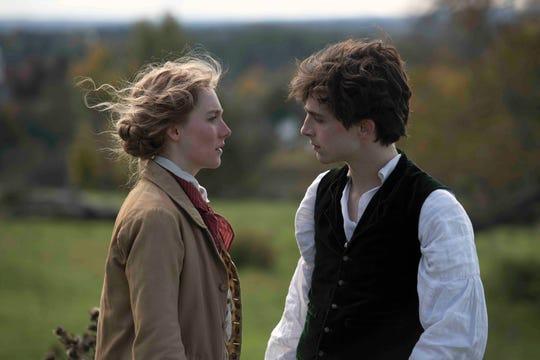 "Saoirse Ronan and Timothée Chalamet star in ""Little Women."""