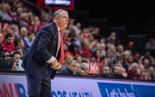 Rutgers coach Steve Pikiell vs. Lafayette