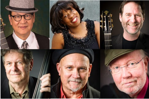 Gypsy jazz veterans Pearl Django will combine with vocalist Gail Pettis for a Feb. 15 Bremerton concert.
