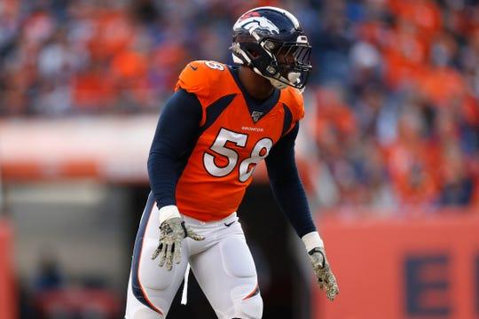 Denver Broncos outside linebacker Von Miller has 105 career sacks.