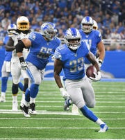 Lions running back Kerryon Johnson has been activated for Sunday's game against the Broncos.