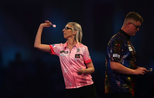 """When asked if she could win the tournament, Sherrock said: """"Why not? I have won two games, I am just going to take each game as it comes but there is nothing to say that I can't. I am going to try."""