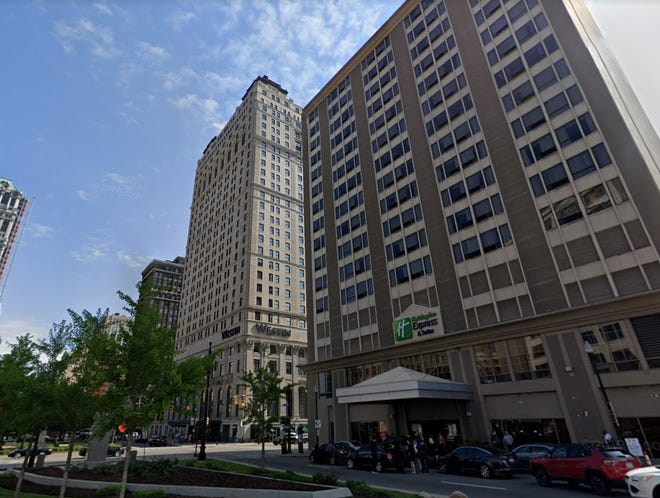 Holiday Inn Express in downtown Detroit.