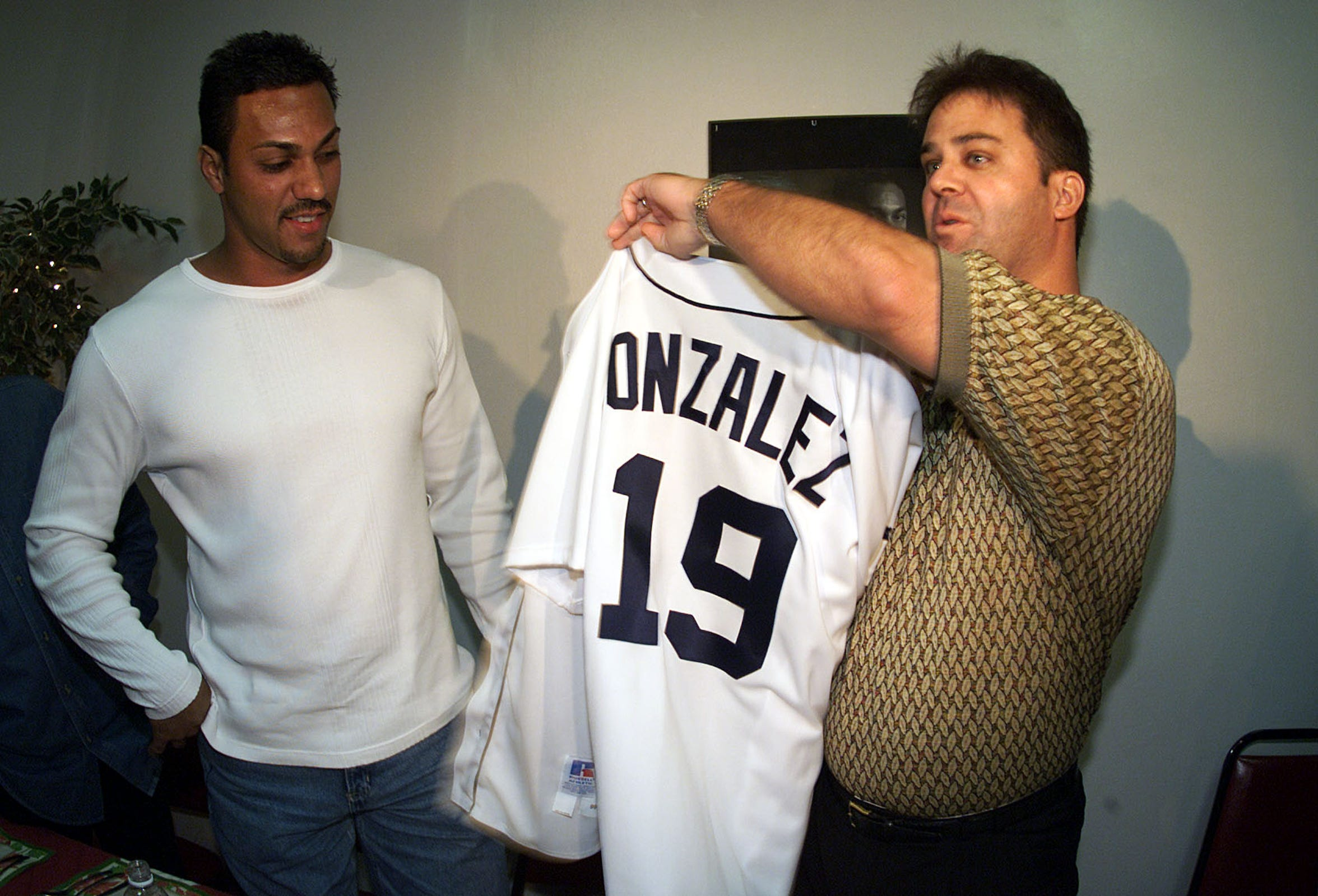 Randy Smith acquired Juan Gonzalez from the Rangers in November 1999.