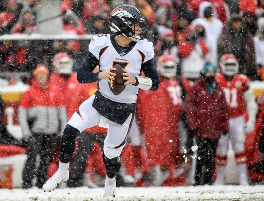 Denver Broncos quarterback Drew Lock will make his fourth start Sunday.