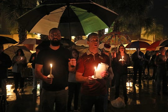 """""""How do we value a human life?"""" Janet Bartos of Lee County Homeless Coalition posed the question to a loyal following who lit candles on the steps of Lee County Courthouse in a ritual remembrance of the unhoused people who lost their lives in 2019. """"Not enough,"""" For Jack Frost and other grass roots activists who are frustrated at the lack of progress to house them. the answer is, """"Not enough."""""""