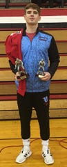 Union County's Dalton Russellburg was named the most outstanding wrestler in Saturday's tournament at Harrison in Evansville.