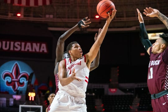 Jalen Johnson scored a game-high 26 points in UL's loss to Little Rock on Saturday night.