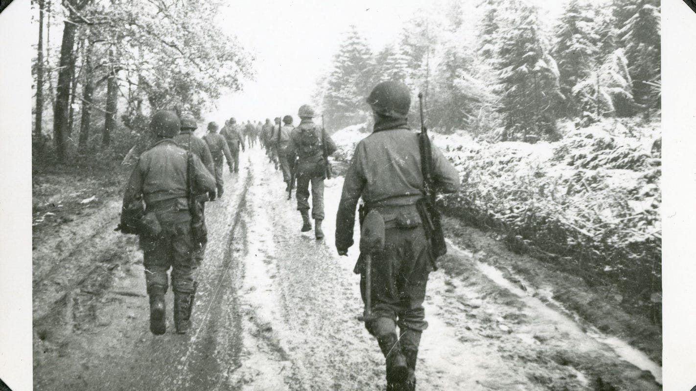 Image result for ww2 us soldiers in the ardennes
